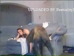 dog cun inside girl