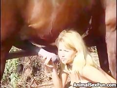 Dando de comer al pony