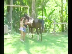 Two man and the canine one